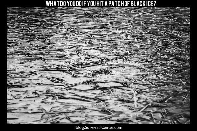 What to do if you hit a patch of black ice