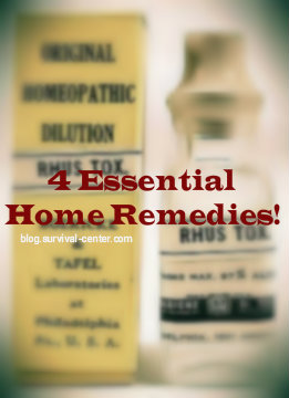 4 Essential Home Remedies