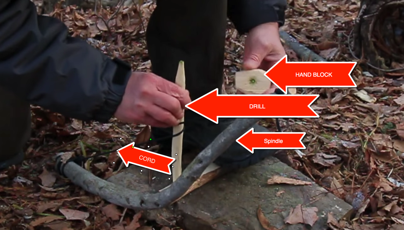 Using a Bow Drill to Start A Fire